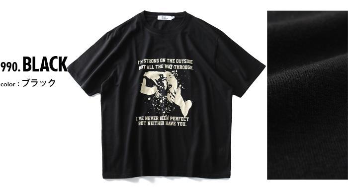 大きいサイズ メンズ DANIEL DODD ロック プリント 半袖 Tシャツ 春夏新作 azt-1902124