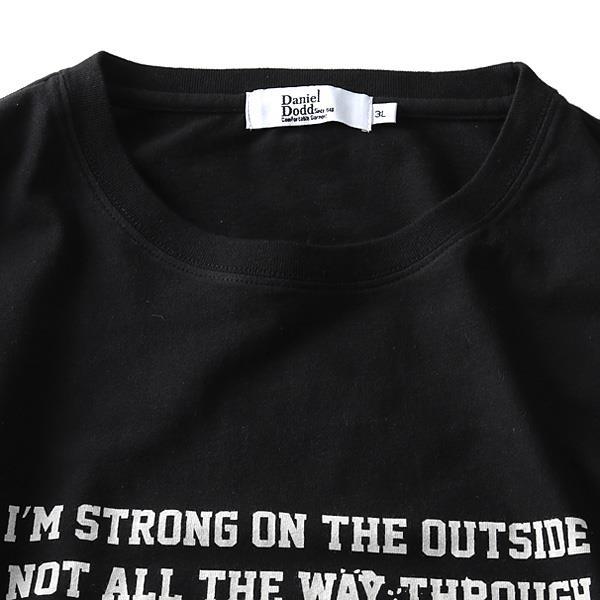 大きいサイズ メンズ DANIEL DODD ロック プリント 半袖 Tシャツ azt-1902124