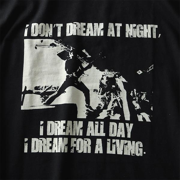 大きいサイズ メンズ DANIEL DODD ロック プリント 半袖 Tシャツ azt-1902125
