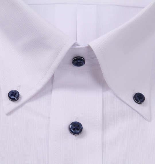 大きいサイズ メンズ HIROKO KOSHINO HOMME B.D 半袖 シャツ ホワイト 1177-9235-1 3L 4L 5L 6L 7L 8L