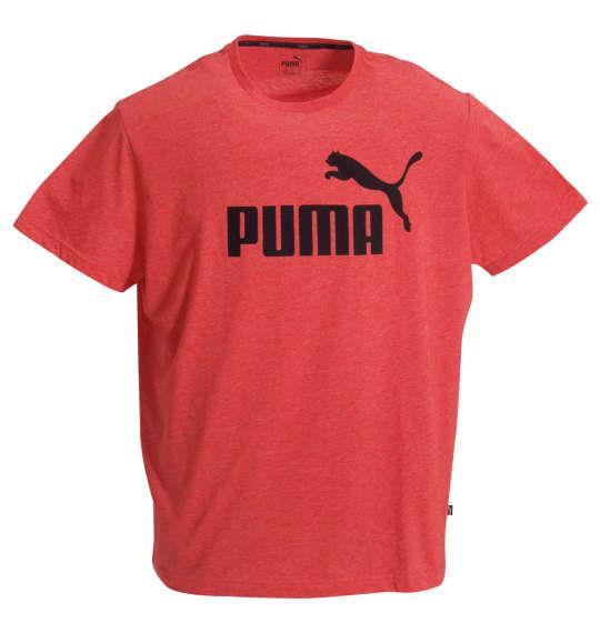 大きいサイズ メンズ PUMA エッセンシャルヘザー 半袖 Tシャツ ハイリスクレッドヘザー 1178-9210-3 2XL 3XL 4XL 5XL 6XL