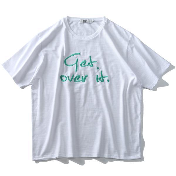 大きいサイズ メンズ DANIEL DODD スラブ 刺繍 半袖 Tシャツ azt-1902137