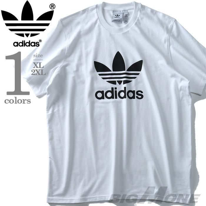 大きいサイズ メンズ ADIDAS アディダス ロゴ プリント 半袖 Tシャツ USA直輸入 cw0710