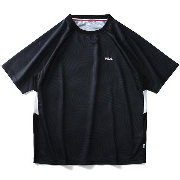 大きいサイズ メンズ FILA フィラ 総柄 ラグランスリーブ 半袖 Tシャツ 春夏新作 fm4845