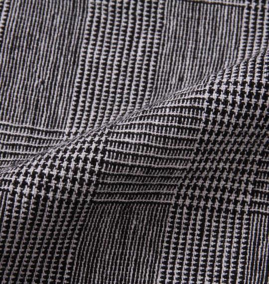 大きいサイズ メンズ Dominate 綿麻 裾リブ クロップド パンツ グレンチェック 1154-9251-1 3L 4L 5L 6L 7L 8L