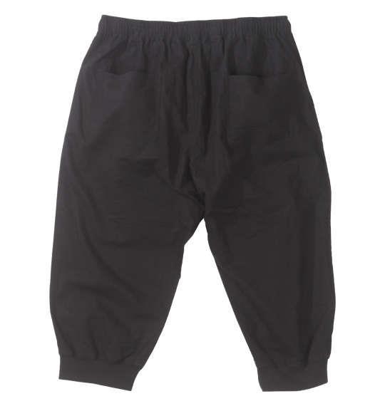 大きいサイズ メンズ Dominate 綿麻 裾リブ クロップド パンツ ブラック 1154-9251-2 3L 4L 5L 6L 7L 8L
