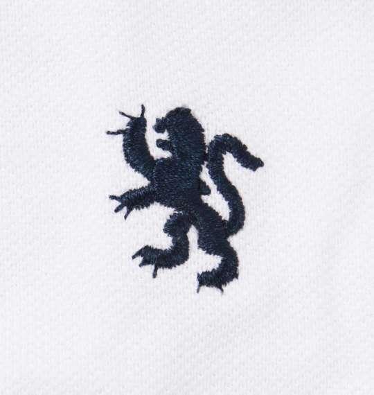 大きいサイズ メンズ Timely Warning 鹿の子 2枚衿 半袖 ポロシャツ ホワイト 1158-9521-1 3L 4L 5L 6L