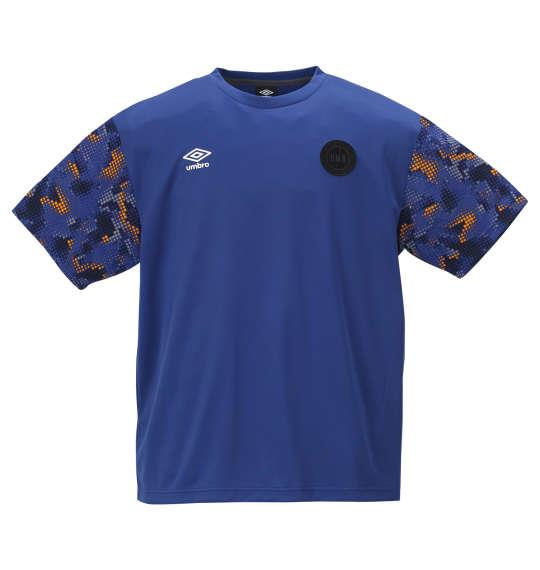 大きいサイズ メンズ UMBRO URA.グラフィック 半袖 Tシャツ ソーダライトブルー 1178-9230-1 2L 3L 4L 5L 6L