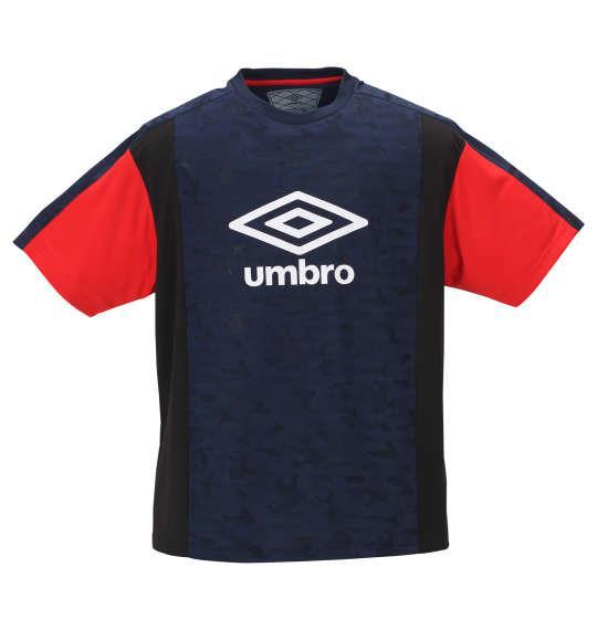大きいサイズ メンズ UMBRO アイスブラスト 半袖 Tシャツ ネイビー 1178-9231-1 2L 3L 4L 5L 6L