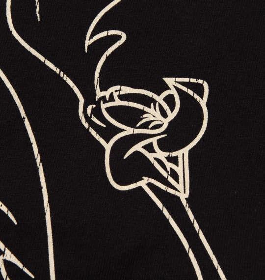 大きいサイズ メンズ LOONEY TUNES チェーン刺繍 & プリント 半袖 Tシャツ ブラック 1178-9245-2 3L 4L 5L 6L 8L