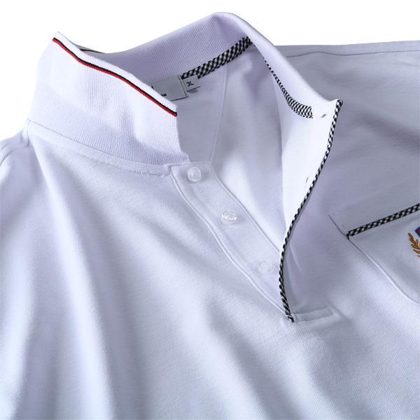 大きいサイズ メンズ DANIEL DODD 刺繍入り 鹿の子 半袖 ポロシャツ azpr-1902145