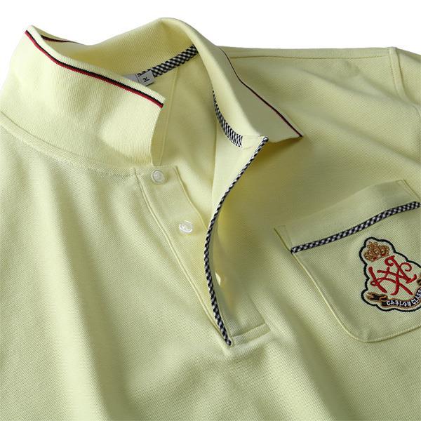 大きいサイズ メンズ DANIEL DODD 刺繍入り 鹿の子 半袖 ポロシャツ azpr-1902146