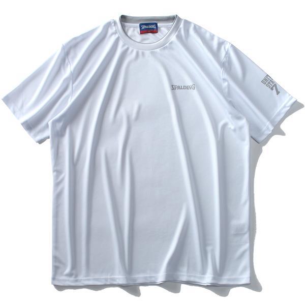 大きいサイズ メンズ SPALDING スポルディング 吸汗速乾 クローズドホールメッシュ 半袖 Tシャツ 春夏新作 9260-8203