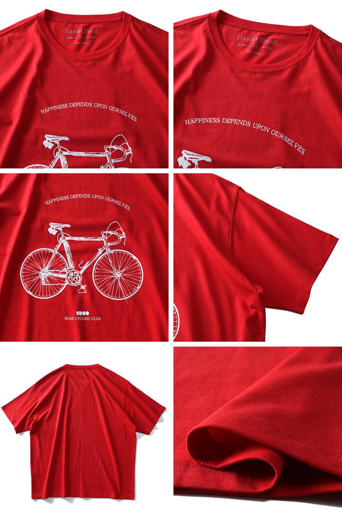 大きいサイズ メンズ DANIEL DODD オーガニック プリント 半袖 Tシャツ ROAD CYCLING azt-190240
