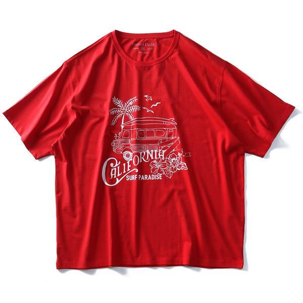 大きいサイズ メンズ DANIEL DODD オーガニック プリント 半袖 Tシャツ CALIFORNIA azt-190246