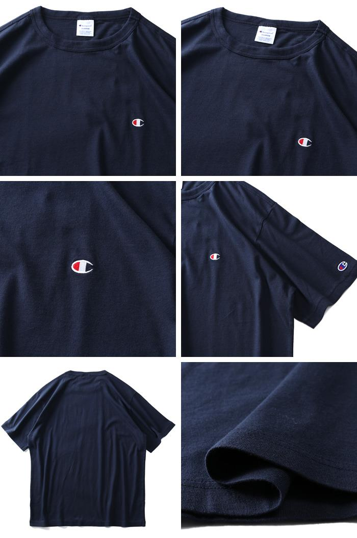 大きいサイズ メンズ Champion チャンピオン ウォッシュ加工 ワンポイント 半袖 Tシャツ c3-p300l