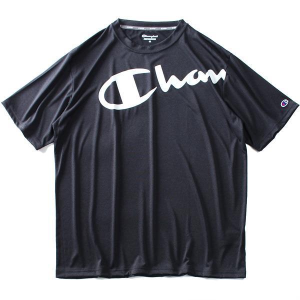 大きいサイズ メンズ Champion チャンピオン 速乾 防臭 プリント トレーニング 半袖 Tシャツ c3-ps321l