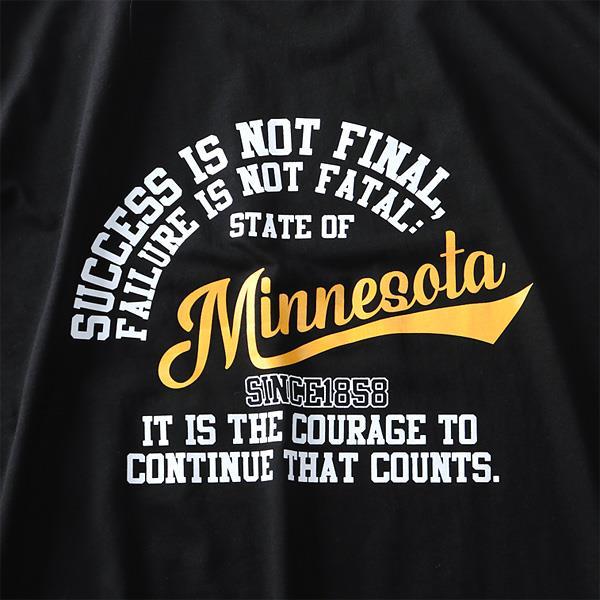 大きいサイズ メンズ DANIEL DODD オーガニック プリント 半袖 Tシャツ Minnesota azt-190249