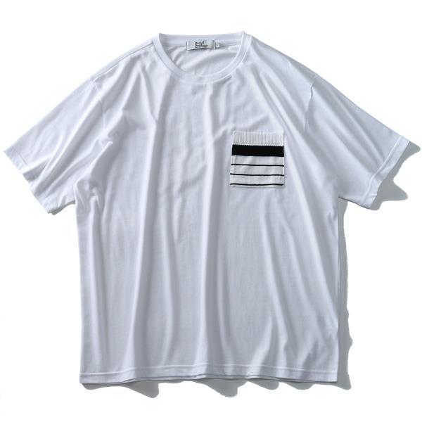 大きいサイズ メンズ DANIEL DODD ニット ポケット付 半袖 Tシャツ azt-1902148