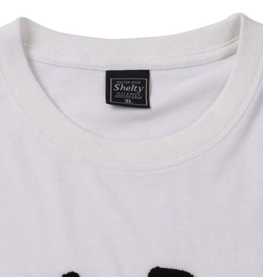 大きいサイズ メンズ SHELTY フラミンゴ サガラ刺繍 半袖 Tシャツ オフホワイト 1168-9275-1 3L 4L 5L 6L 8L
