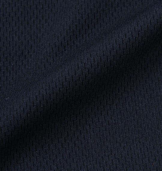 大きいサイズ メンズ LOTTO DRY メッシュ ハーフジップ 半袖 シャツ ネイビー 1178-9515-1 3L 4L 5L 6L 8L