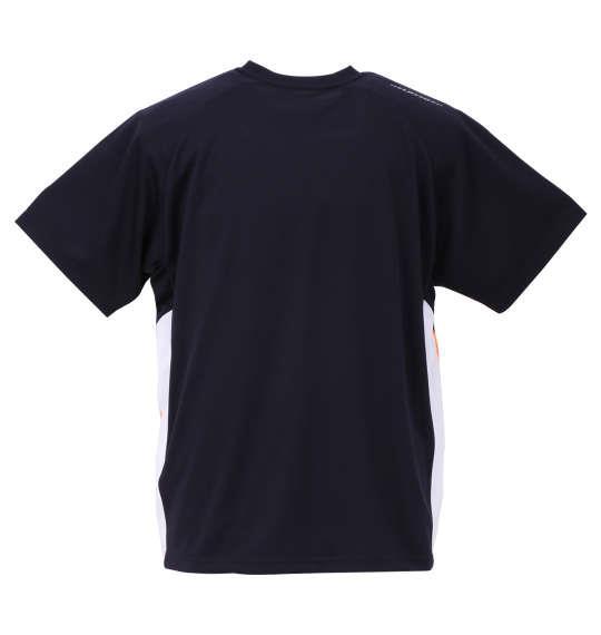 大きいサイズ メンズ LOTTO DRY メッシュ 半袖 Tシャツ ネイビー 1178-9516-2 3L 4L 5L 6L 8L