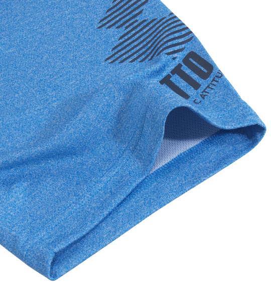 大きいサイズ メンズ LOTTO DRY 裏 メッシュ 杢 半袖 Tシャツ ブルー 1178-9517-1 3L 4L 5L 6L 8L