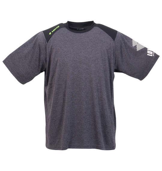 大きいサイズ メンズ LOTTO DRY 裏 メッシュ 杢 半袖 Tシャツ ブラック 1178-9517-2 3L 4L 5L 6L 8L