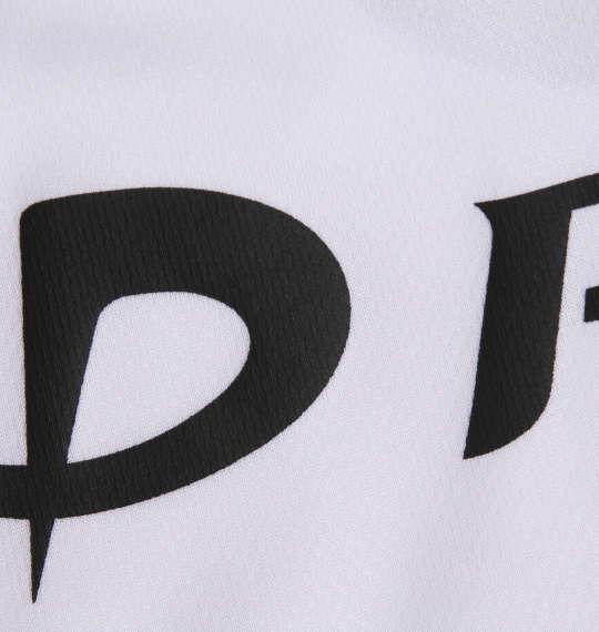 大きいサイズ メンズ Phiten RAKUシャツ SPORTS ドライ メッシュ 半袖 Tシャツ ホワイト × ブラック 1178-9540-1 3L 4L 5L 6L 8L