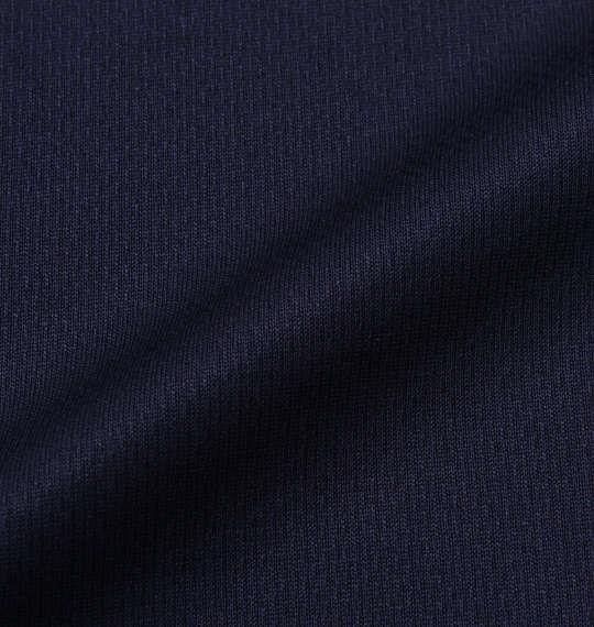 大きいサイズ メンズ Phiten RAKUシャツ SPORTS ドライ メッシュ 半袖 Tシャツ ネイビー × ホワイト 1178-9540-3 3L 4L 5L 6L 8L