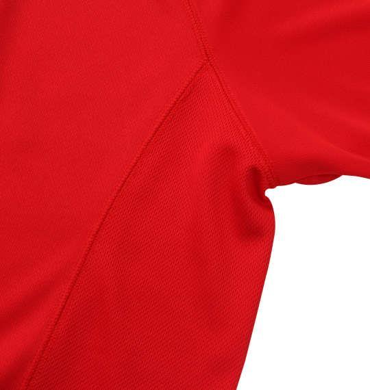 大きいサイズ メンズ Phiten RAKUシャツ SPORTS ドライ メッシュ 半袖 Tシャツ レッド × ゴールド 1178-9540-4 3L 4L 5L 6L 8L