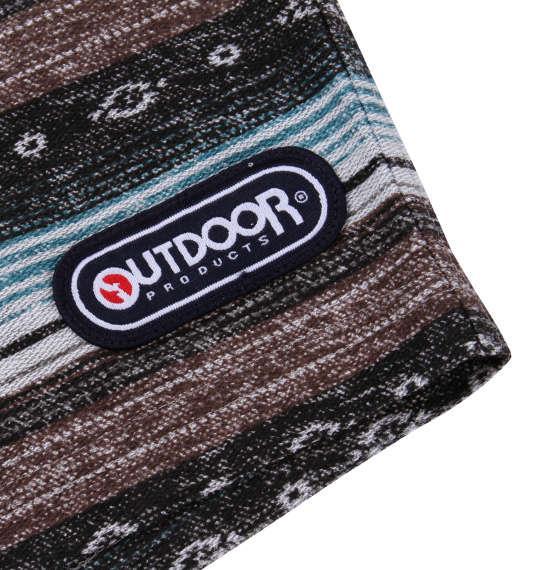 大きいサイズ メンズ OUTDOOR PRODUCTS インレイ 裏毛 オルテガ柄 ハーフパンツ ブラウン系 1154-9231-1 3L 4L 5L 6L 8L