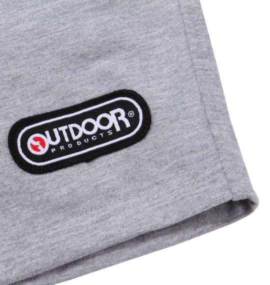 大きいサイズ メンズ OUTDOOR PRODUCTS インレイ 裏毛 プリント 切替 ハーフパンツ モクグレー 1154-9232-1 3L 4L 5L 6L 8L