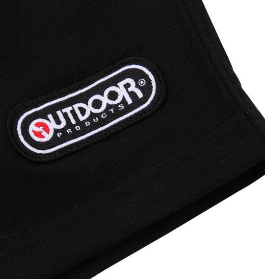 大きいサイズ メンズ OUTDOOR PRODUCTS インレイ 裏毛 プリント 切替 ハーフパンツ ブラック 1154-9232-2 3L 4L 5L 6L 8L
