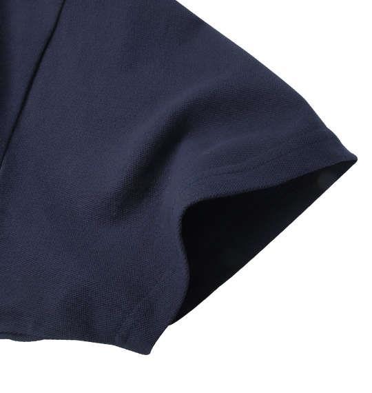 大きいサイズ メンズ Timely Warning 鹿の子 3段 切替 半袖 ポロシャツ ネイビー 1158-9524-2 3L 4L 5L 6L