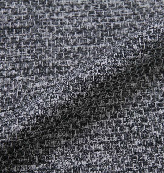 大きいサイズ メンズ Phiten DRY メッシュ 杢 ハーフジップ 半袖 シャツ ネイビー 1178-9566-2 3L 4L 5L 6L 8L
