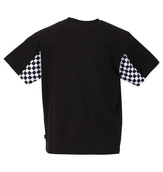 大きいサイズ メンズ VANS チェッカー スリーブ 半袖 Tシャツ ブラック 1178-9590-2 3L 4L 5L 6L