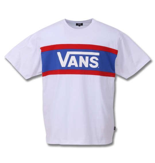 大きいサイズ メンズ VANS カラー パネル 半袖 Tシャツ ホワイト 1178-9591-1 3L 4L 5L