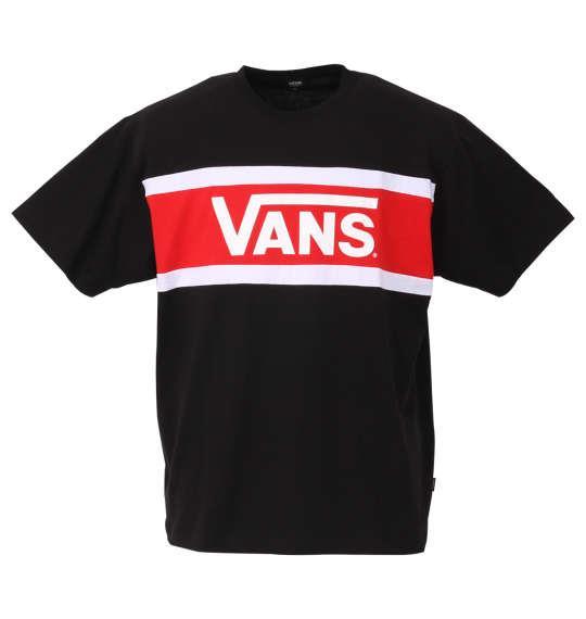 大きいサイズ メンズ VANS カラー パネル 半袖 Tシャツ ブラック 1178-9591-2 3L 4L 5L