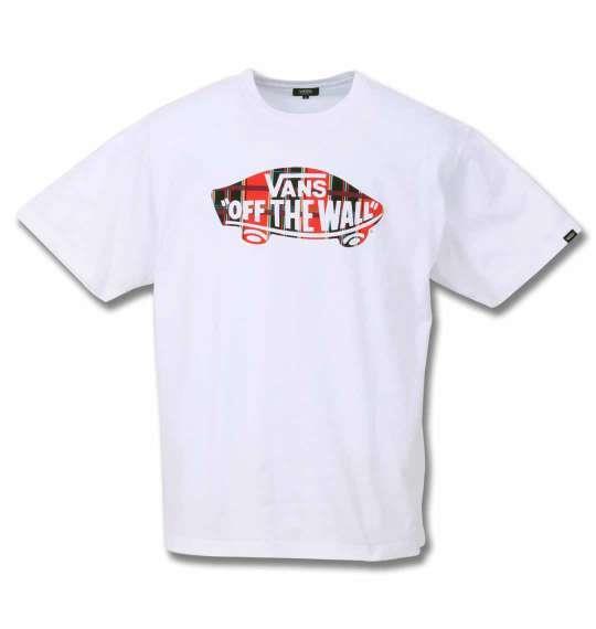 大きいサイズ メンズ VANS チェック SK8OTW 半袖 Tシャツ ホワイト 1178-9592-1 3L 4L 5L 6L