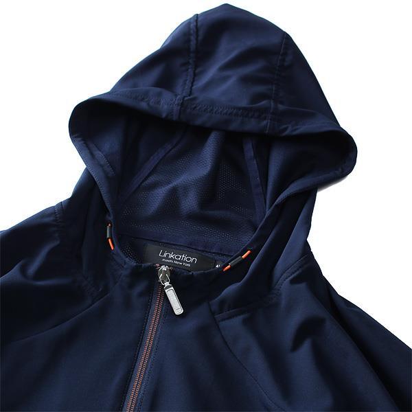 大きいサイズ メンズ LINKATION 接触冷感 半袖 セットアップ フルジップ パーカー アスレジャー スポーツウェア la-cj190298