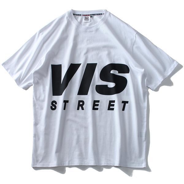 大きいサイズ メンズ VISION STREET WEAR デカロゴ プリント 半袖 Tシャツ 春夏新作 9504109