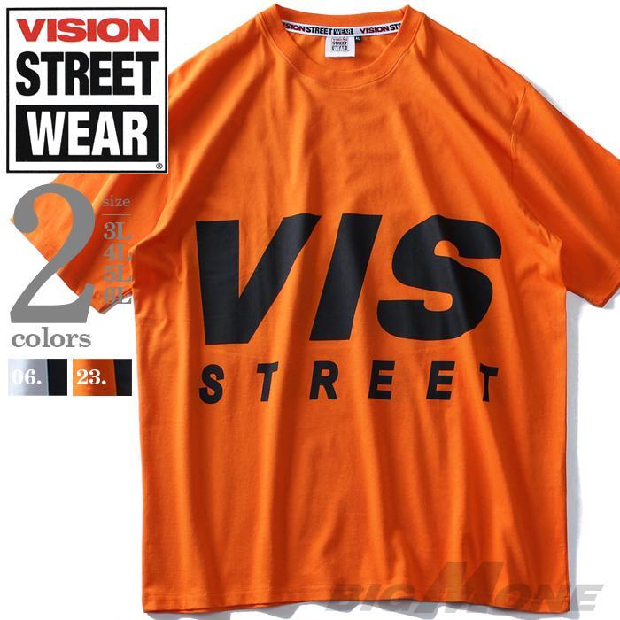 大きいサイズ メンズ VISION STREET WEAR デカロゴ プリント 半袖 Tシャツ 9504109