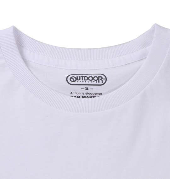 大きいサイズ メンズ OUTDOOR PRODUCTS 天竺 ポケット付 半袖 Tシャツ ホワイト 1158-9210-1 3L 4L 5L 6L 8L