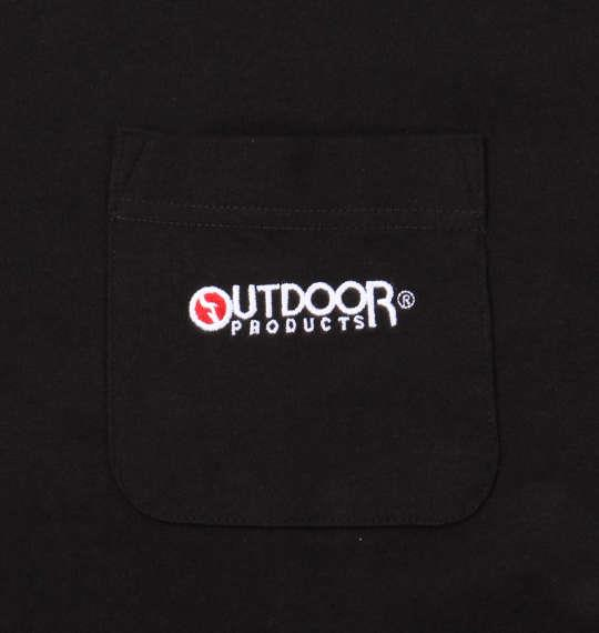 大きいサイズ メンズ OUTDOOR PRODUCTS 天竺 ポケット付 半袖 Tシャツ ブラック 1158-9210-2 3L 4L 5L 6L 8L