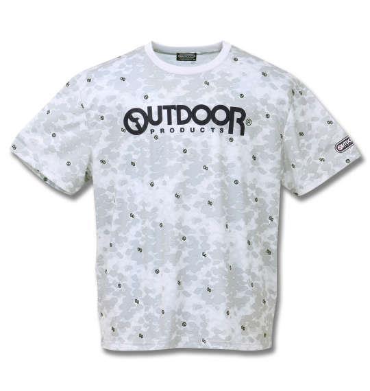 大きいサイズ メンズ OUTDOOR PRODUCTS DRY メッシュ 総柄 半袖 Tシャツ グレー 1158-9213-1 3L 4L 5L 6L 8L