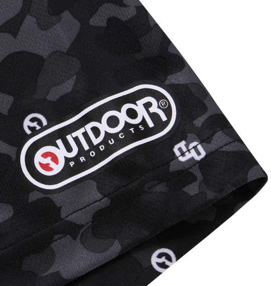 大きいサイズ メンズ OUTDOOR PRODUCTS DRY メッシュ 総柄 半袖 Tシャツ ブラック 1158-9213-2 3L 4L 5L 6L 8L