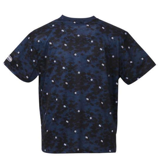 大きいサイズ メンズ OUTDOOR PRODUCTS DRY メッシュ 総柄 半袖 Tシャツ ネイビー 1158-9213-3 3L 4L 5L 6L 8L