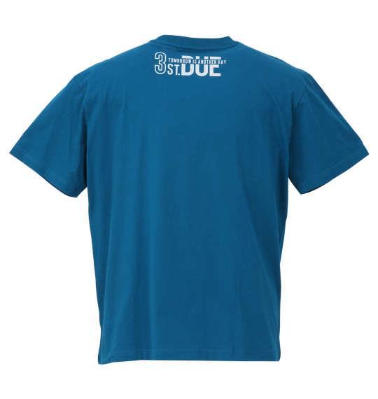 大きいサイズ メンズ PREPS 半袖 Tシャツ ターコイズ 1158-9580-1 3L 4L 5L 6L 8L
