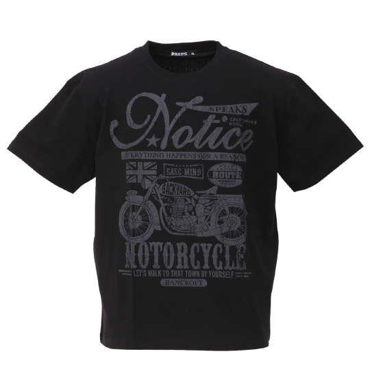 大きいサイズ メンズ PREPS 半袖 Tシャツ ブラック 1158-9581-2 3L 4L 5L 6L 8L
